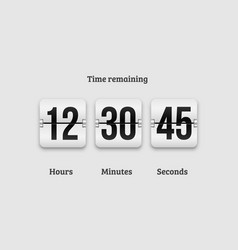 countdown clock flip counter digital timer vector image