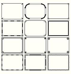 decorative simple frames set 14 vector image