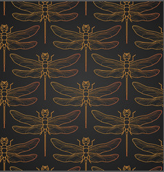 dragonfly pattern seamless vector image