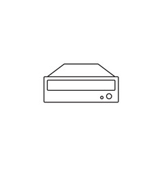dvd rom icon outline or line style vector image