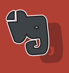 Elephant evernote logo vector