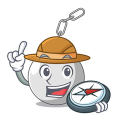 Explorer wrecking ball isolated on a mascot vector