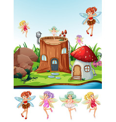 Fairy tale in nature vector