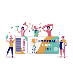 football tournament tickets poster banner vector image