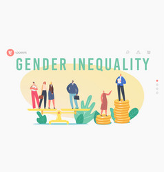 Gender discrimination and sex inequality vector