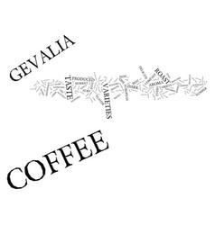Gevalia coffee text background word cloud concept vector
