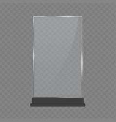 Glass table display vector