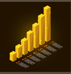 gold chart vector image