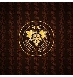 Gold wine label design vector