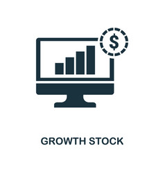 growth stock icon line style icon design from vector image