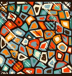 grunge vintage mosaic vector image