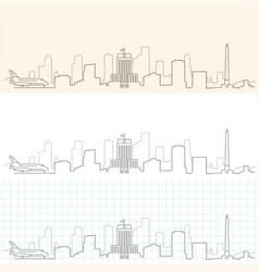 houston hand drawn skyline vector image
