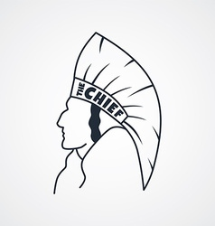 indian chief art sign vector image