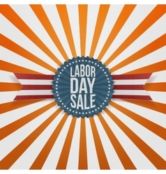 Labor Day Sale textile Badge vector