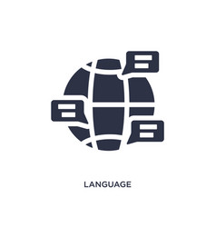 Language icon on white background simple element vector