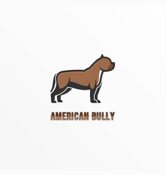 Logo american bully mascot cartoon style vector