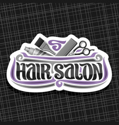 Logo for hair salon vector