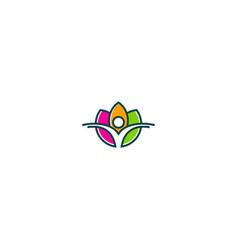 lotus flower beauty health yoga logo vector image