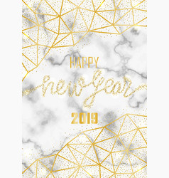 Luxury golden glitter happy new year 2019 vector