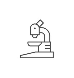 microscope line icon or science concept vector image