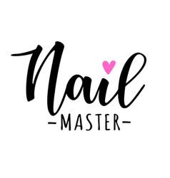 Nail master lettering vector