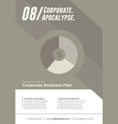 neutral business cover template vector image