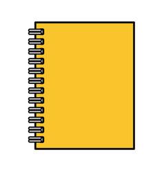 notebook yellow vector image