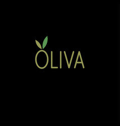 olive logo for olive oil lettering vector image