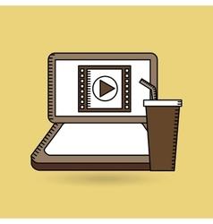 Online movie fast food design vector