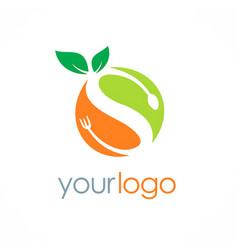 Organic fuit letter s logo vector