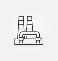 outline geothermal power plant icon vector image