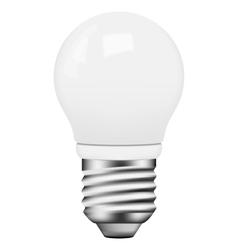 photo-realistic energy saving bulb vector image