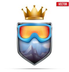 premium symbol of snowboarding label vector image