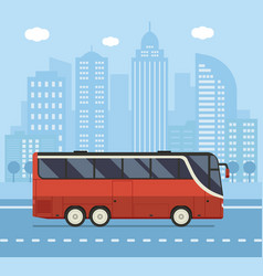 Public city bus concept vector