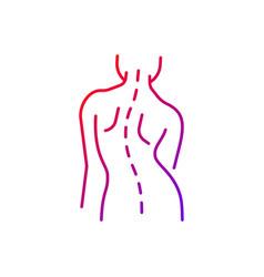 Scoliosis gradient linear icon vector