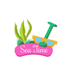 sea time in summer vector image