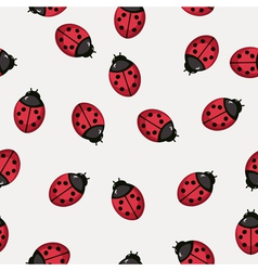 Seamless pattern background with ladybugs vector image