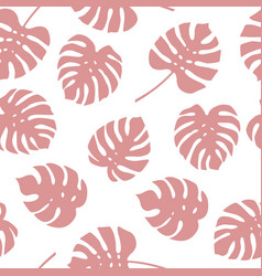 seamless pattern of monstera leaves vector image