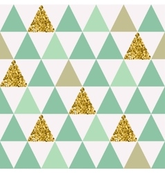 Seamless pattern with gold triangles vector image