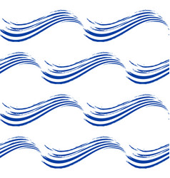 Seamless pattern with hand drawn waves vector