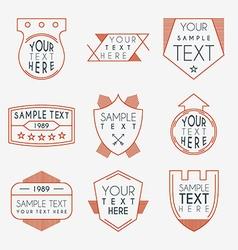 Set of Hipster Vintage Labels Logotypes Badges vector