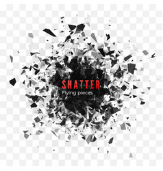Shatter and destruction effect abstract cloud vector
