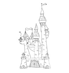 Sketchy Castle vector image