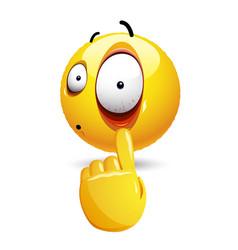 smiley with face expression smiley emoticon vector image