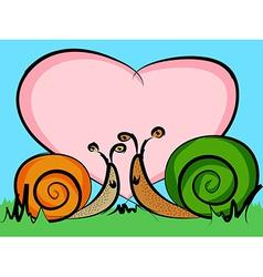 Snails in love vector