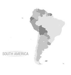 south america grey map vector image