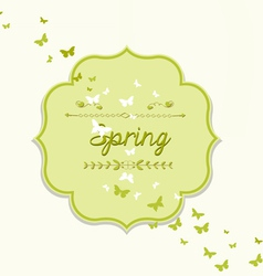 Spring forest nature invitation cards vector