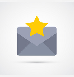 star mail trendy social symbol trendy colored vector image