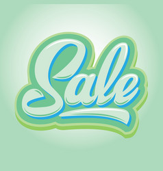 stylish calligraphic green lettering sale on the vector image