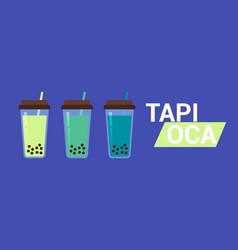 Tapioca advertising banner vector